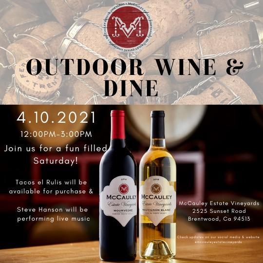 McCauley Estate Vineyards Wine and Dine